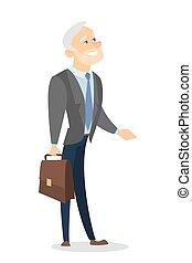 Isolated senior businessman.