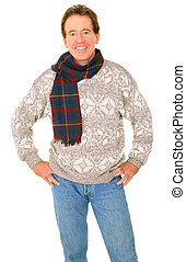 Isolated Senior Man With Happy Expression