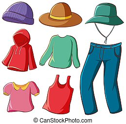 Isolated set of clothes