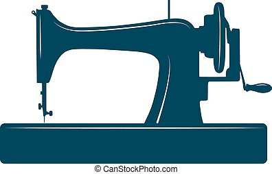 Isolated sewing machine. - Sewing machine isolated on white...