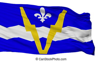 Isolated Shawinigan city flag, Canada - Shawinigan flag,...