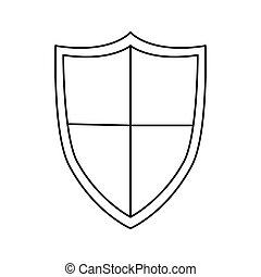 Isolated shield design - Shield icon. Security system...