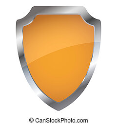 isolated shield - illustration of shield on isolated...