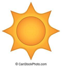 Isolated shiny sun