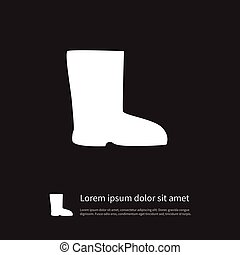 Isolated Shoes Icon. Boots Vector Element Can Be Used For Shoes, Boots, Wellies Design Concept.