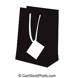 Isolated shopping bag silhouette