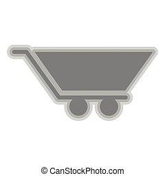 Isolated shopping cart symbol on white background