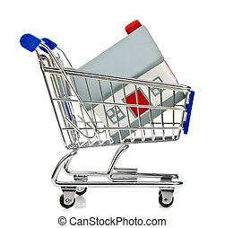 Shopping Cart with house
