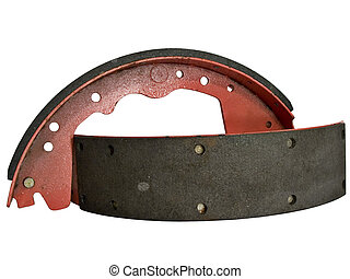 Brake Shoes - Isolated shot of a set of Brake Shoes