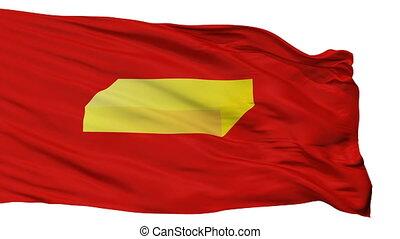 Isolated Shuya city flag, Russia - Shuya flag, city of...