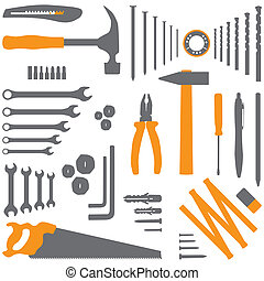 Isolated silhouette illustration of DIY tool