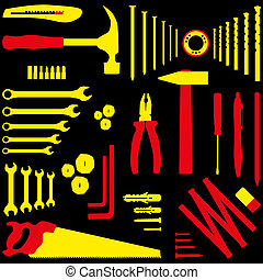 DIY tool - Isolated silhouette illustration of DIY tool