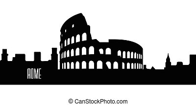 Isolated silhouette of Rome