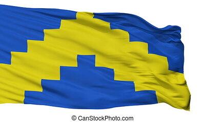 Isolated Sillamae city flag, Estonia - Sillamae flag, city...