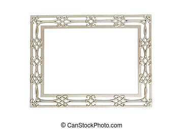 Isolated silver picture frame