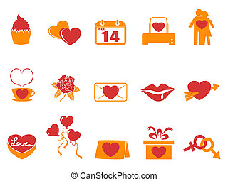 simple color Valentines Day icons