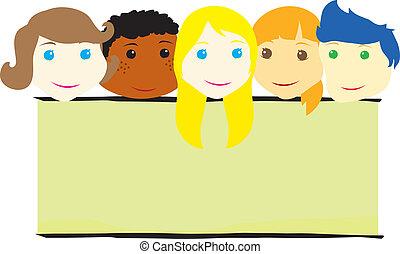 children faces background