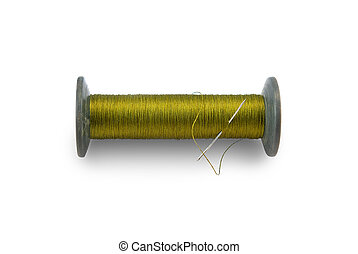 skein of thread with needle