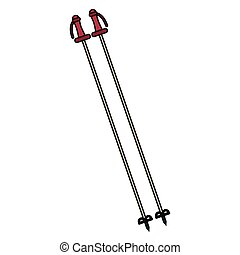 Isolated ski poles design