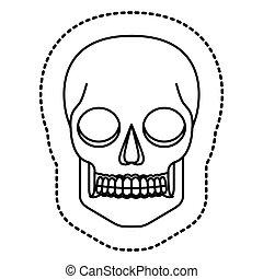 Isolated skull head design