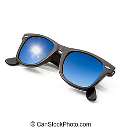isolated sky sunglasses in white background
