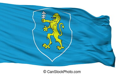 Isolated Slonim city flag, Belarus - Slonim flag, city of...