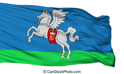Isolated Slucak city flag, Belarus - Slucak flag, city of...