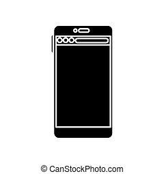 Isolated smartphone icon vector design