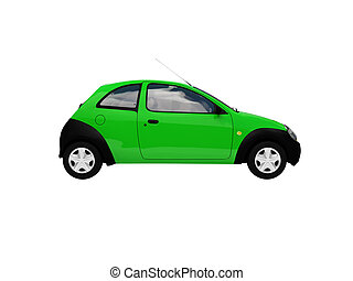 isolated smarty car side view