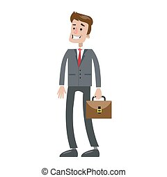 Isolated smiling businessman. - Isolated smiling businessman...