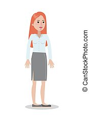 Isolated smiling businesswoman.