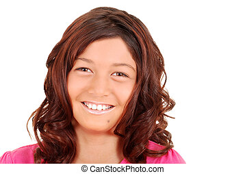 Smiling portrait young girl