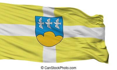 Isolated Smiltene city flag, Latvia - Smiltene flag, city of...