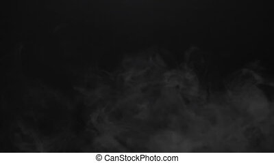 Isolated smoky cloud of electronic cigarette - White smoky...