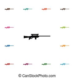 Isolated Sniper Icon. Sharpshooter Vector Element Can Be...