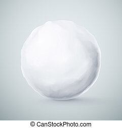 Isolated snowball closeup, eps 10