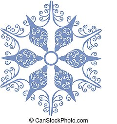 Vector. Isolated snowflake in color 01