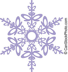 Vector. Isolated snowflake in color 03