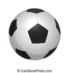 isolated Soccer Ball on white