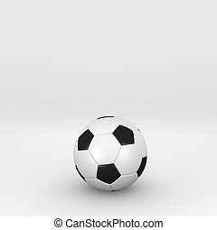 isolated soccer ball
