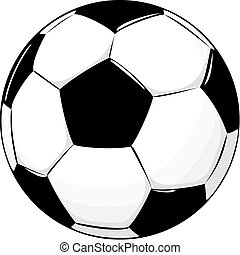 soccer ball - isolated soccer ball, vector format very easy ...