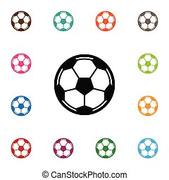 Isolated Soccer Icon. Game Vector Element Can Be Used For Soccer, Ball, Football Design Concept.