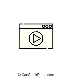 Isolated social media play icon vector design