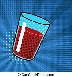 Isolated soda drink. Pop art style