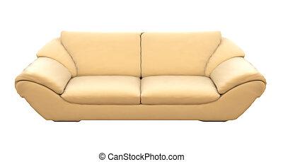 isolated., sofas, vecteur