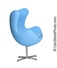 Isolated Soft blue Stylish Chair