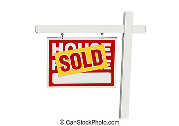 Isolated Sold Home For Sale Sign