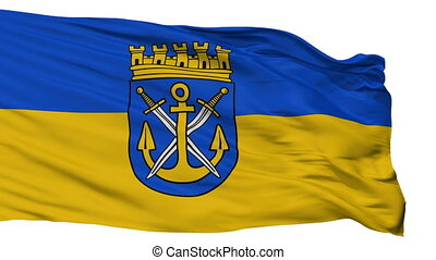 Isolated Solingen city flag, Germany - Solingen flag, city...