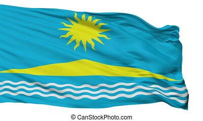 Isolated Solnechnogorsk city flag, Russia - Solnechnogorsk...