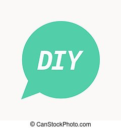 Red marker sketched speech bubble with do it yourself stock isolated speech balloon with the text diy solutioingenieria Choice Image